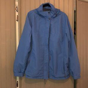 Blue Lands' End Raincoat, Size L